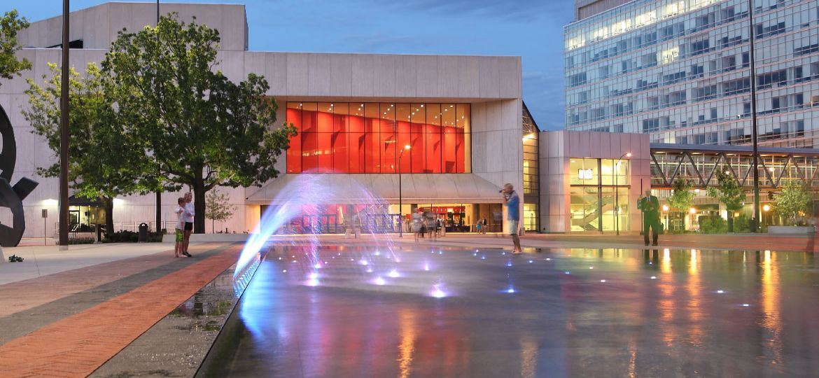 Water Fountain At Cowles Commons