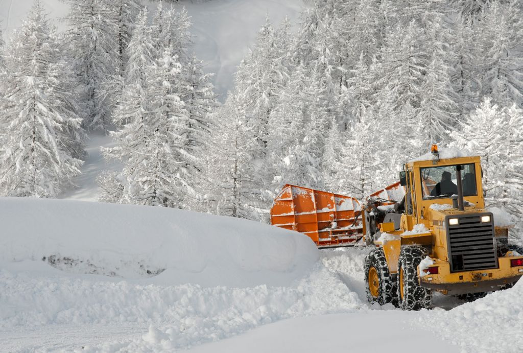 Snow Removal Using A Tractor