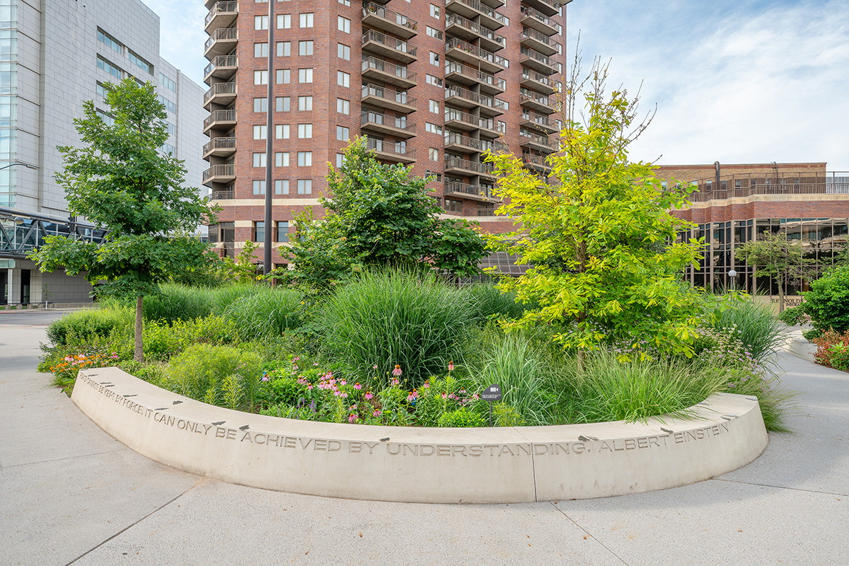 Landscaping Feature In Cowles Common