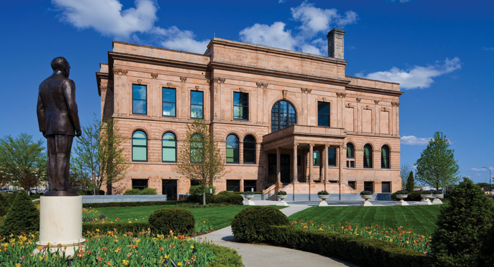 Front Of World Food Prize Hall of Laureates in Des Moines, Iowa