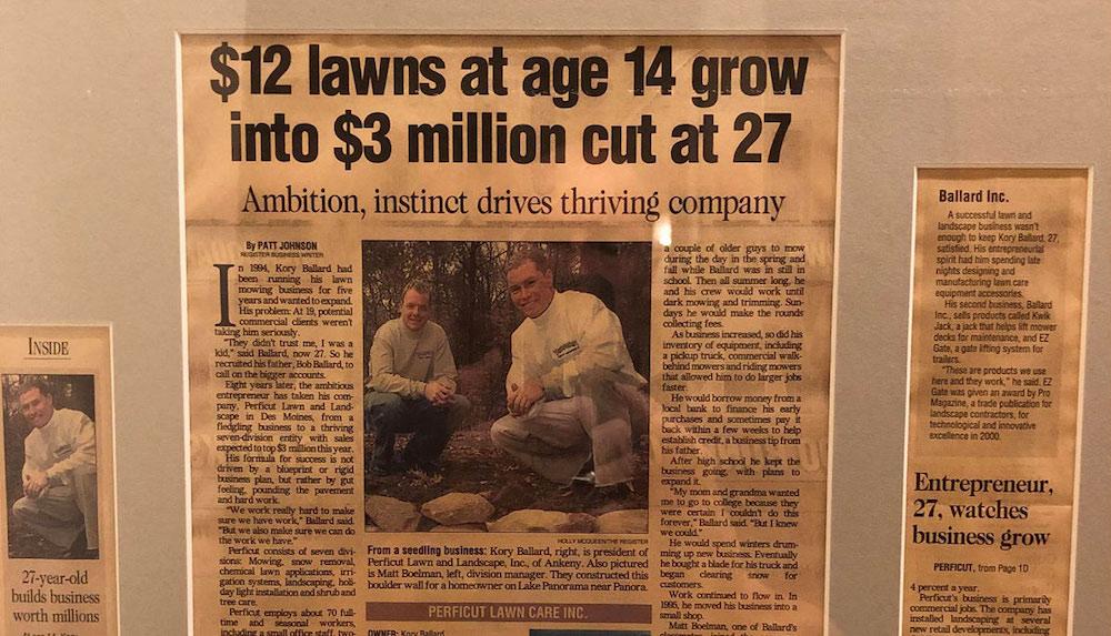 Newspaper article about Perficut