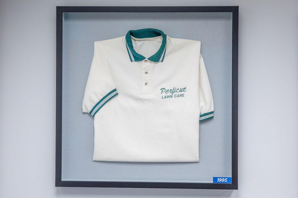 Vintage 1995 Perficut uniform in frame